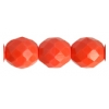 Fire Polished 10mm Opaque Red